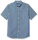 Chaps Men's Regular-Fit Short Sleeve Wrinkle Resistant Performance Sportshirt, Sodalite Blue Multi, M