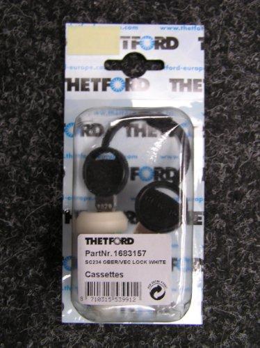 Thetford deur 2 Vecam-cilinderslot crèmewit