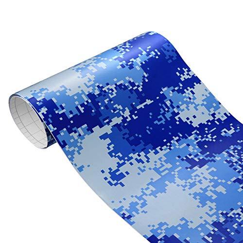 NsbsXs Film Vinyle de Voiture,30 cm * 100 cm Camouflage Vinyle PVC Voiture Autocollant Wrap Film numérique Woodland armée Militaire Vert Camo désert décalcomanie