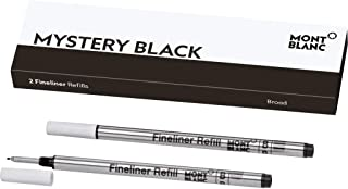 Montblanc Fineliner Refills (B) Mystery Black 105170 / Pen Refills for Fineliner and Rollerball Pens by Montblanc / 2 x Fi...