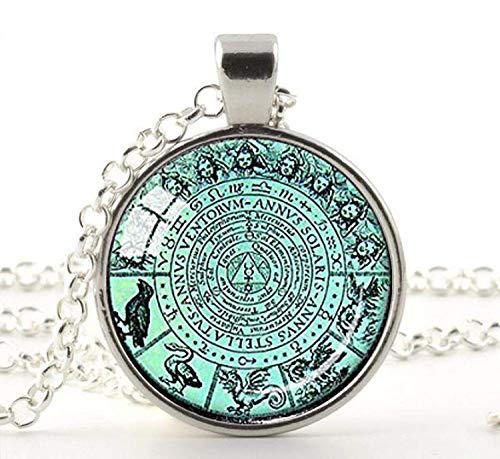 HE PING Alchemie-Anhänger, Alchemie-Symbol, Tarot-Anhänger, schwarzer Astrologie-Anhänger, Alchemisten-Geschenk, Tarot-Schmuck, Alchemisten-Anhänger