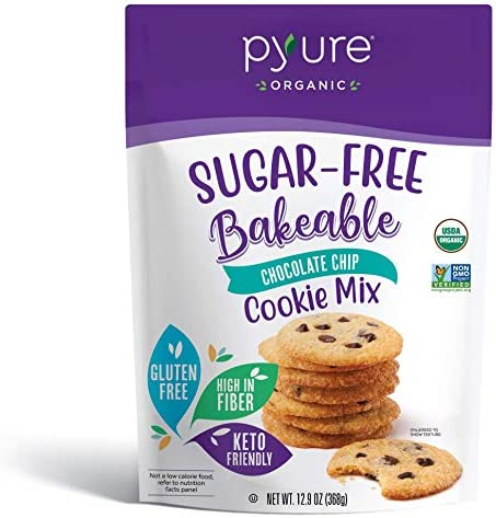 Organic Chocolate Chip Cookie Mix by Pyure Sugar Free Keto Low Carb Bakeables Makes 16 Cookies product image