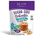 Pyure Organic Sugar-Free Keto Chocolate Chip Cookie Mix, Bakeable, Gluten Free, Low Carb Lifestyle,...
