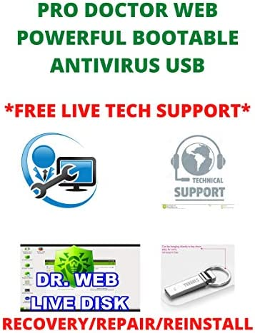 Pro Doctor Web 2021 Bootable PC Virus Remover Recovery Restore Repair Reboot Fix USB Is a Powerful product image