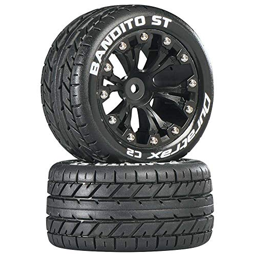 """Duratrax Bandito ST 2.8"""" 2WD Mounted Rear C2 Tires"""