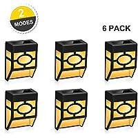 6-Pack Winmor Outdoor Solar Wall Deck Lights