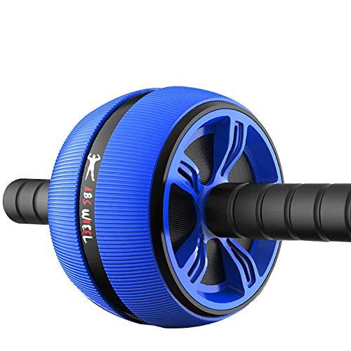 Sportshome Großes Stummes Bauchmuskelrad/Fitnessgerät/Heimgymnastik - Blau,Bauchtrainer AB Wheel für Fitness Bauchmuskeltraining Muskelaufbau Bauchroller.
