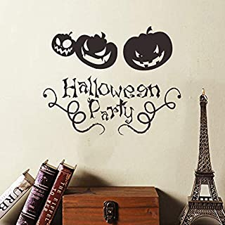 Holly LifePro Party Supplies Happy Halloween Removable Decal Wall Sticker for Bar Living Room Home Party Window Door Grass...