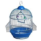 Hkwshop Jaula para pájaros Jaula de pájaros pequeña de Metal Loro Perla Pájaro Creativo Jaula de pájaros portátil Jaula pájaros