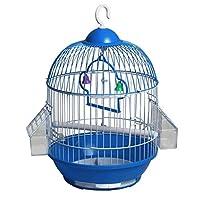 鳥小屋、セキセイインコ用ケージ 金属小鳥ケージクリエイティブオウムパールバードポータブルバードケージ 旅行鳥かご