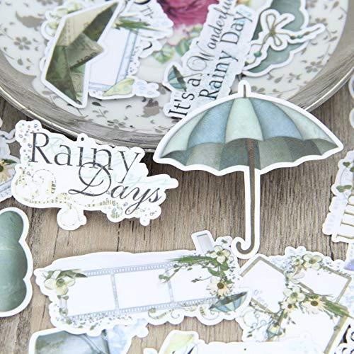 BLOUR Regenschirm Aufkleber Basteln und Scrapbooking Aufkleber Kinderspielzeug Buch Dekorative Aufkleber DIY Briefpapier 28pcs