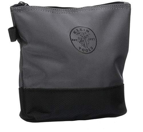 Klein Tools 55470 Utility Bag, Stand-Up Zipper Tool Bags in Orange/Black, Gray/Black, 2-Pack