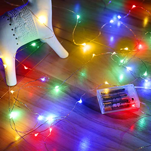 Ariceleo Led Fairy Lights Battery Operated, 1 Pack Mini Battery...