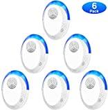 TOMPOL Ultrasonic Pest Repeller 6 Pack, Pest Repellent Plug in Indoor Pest Repellent for Mosquito, Insects,Cockroaches, Mouse, Rats, Bug, Spider, Ant, Rodent, Human & Pet Safe