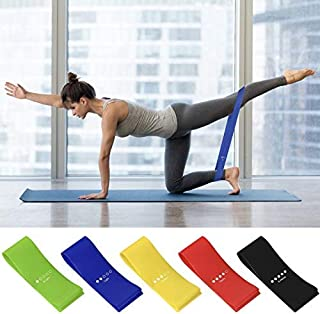 AMAYGA Fitness Elastic Bands (Set of 5),Fitness Resistance Bands with 5 Resistance Levels,Fitness Elastic Bands for Crossf...