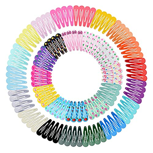 ZOYLINK 120 Stk Haarspangen Mädchen Haarspangen Baby Haarspangen Set haarklammern mädchen Kinder Haarspangen Bunt Barrettes Set(30 verschiedene Farben ,4.8cm)