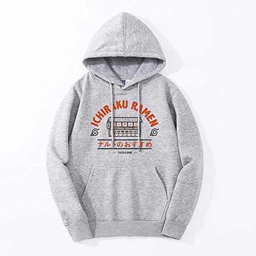 ZIXIYAWEI Sudadera Casual con Capucha para Hombre,Sweatshirt Men Fashion Hooded Tracksuit Spring Winter Warm Loose Hoodies Hip Hop Harajuku Style Streetwear Tops-Gray_L