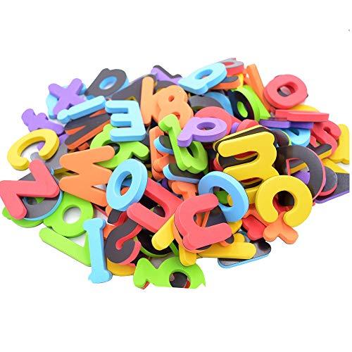 Seatrend magnetische EVA-Schaum Alphabet Buchstaben und Zahlen Kits für Kleinkinder Kinder in Spaß pädagogisch, Kühlschrank-Magneten Spielzeug Set Vorschule lernen Rechtschreibungszählung 114