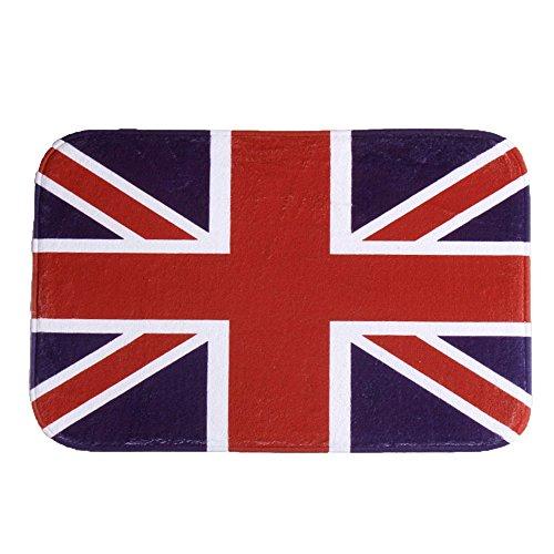 iHome - Felpudo (terciopelo, 40 x 60 cm), diseño de bandera británica