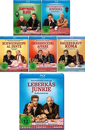 Eberhofer - 6 Blu-Ray Set (Dampfnudelblues + Winterkartoffelknödel + Schweinskopf al dente + Grießnockerlaffäre + Sauerkrautkoma + Leberkäsjunkie) im Set - Deutsche Originalware [6 Blu-rays]