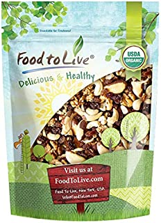 Organic Energy Trail Mix, 8 Ounces — Non-GMO and Raw Nuts and Berries including Cashews, Golden Berries, Raisins, Walnuts,...