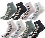 Vincent Creation 8 Paar Herren Sneaker Socken, STREET, Gekämmte Baumwolle