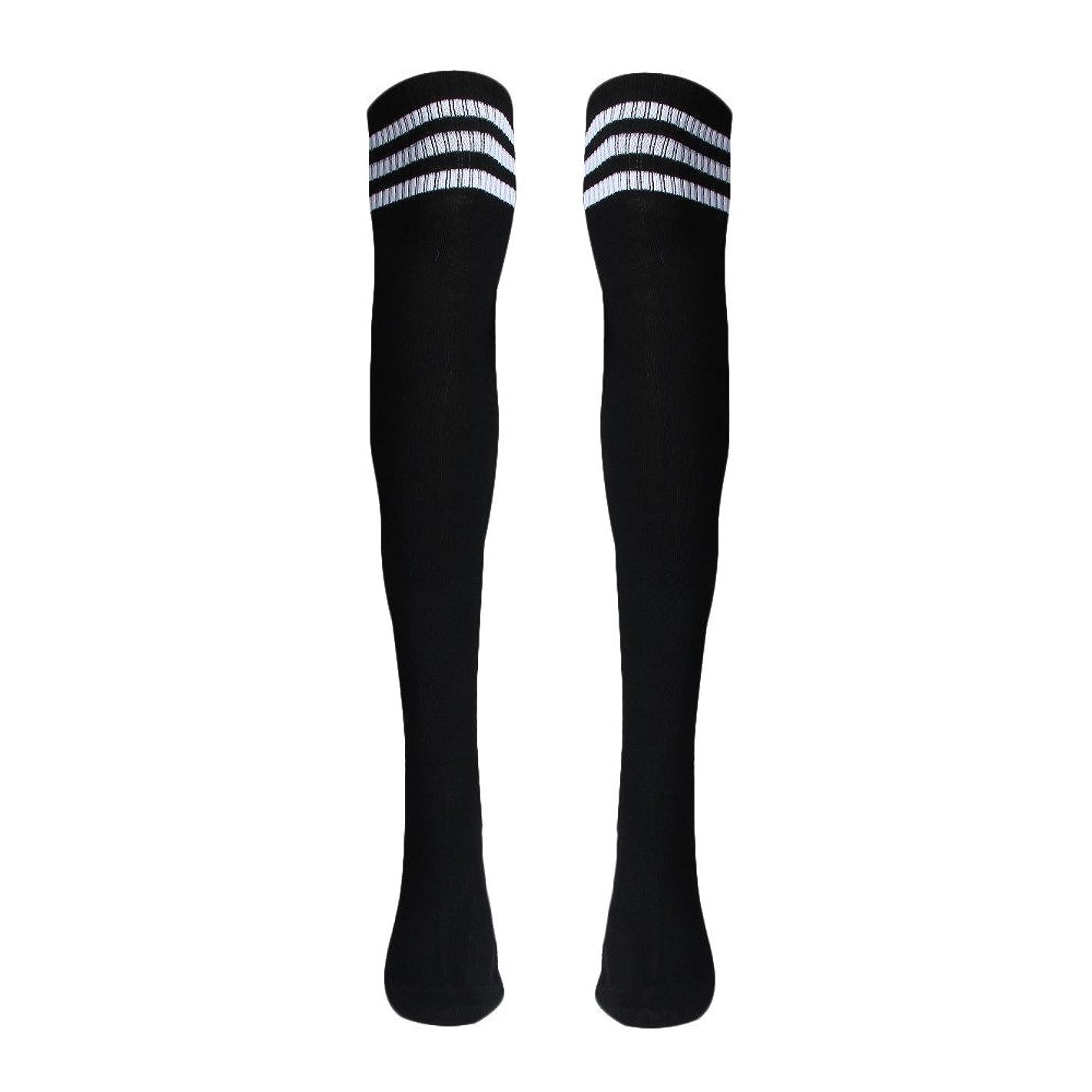Women Christmas Warm Thigh High Long Stockings Knit Over Knee Socks Xmas