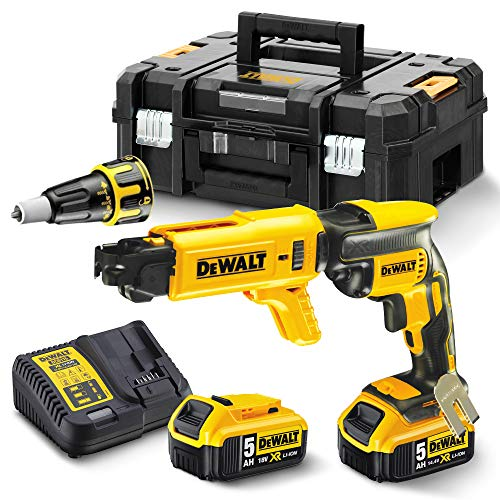 DEWALT DCF620P2K-GB XR Brushless 2 Kg SDS-Plus Hammer (2 x 5 Ah), 18 V, Yellow/Black