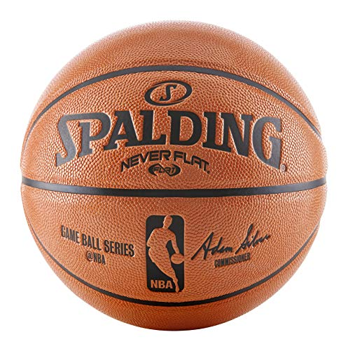 Lowest Prices! Spalding NBA Never Flat Game Replica Ball, Offical Size/29.5-Inch