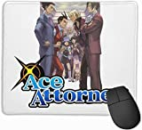 Ace Attorney Non-Slop Rubber Mousepad Gaming Mouse Pad with Stitched Edge 11.8'x9.8'