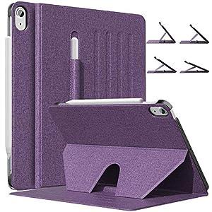MoKo Funda para iPad Air 4ta Generación 2020 Nuevo iPad 10.9 2020, [Admite Carga Inalámbrica Apple Pencil] Cubierta con Soporte Magnético, Múltiples Ángulos de Visión, Morado