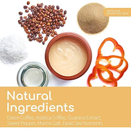 Arabica Coffee Scrub - Large 21oz Natural Coffee Body Scrub - Coffee Exfoliating Scrub to Help Reduce Acne, Cellulite and Stretch Marks - Firming Action
