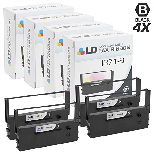 Price comparison product image LD Compatible Printer Ribbon Cartridge Replacement for Citizen IR71-B (Black,  4-Pack)