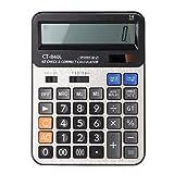 Calcolatore elettronico Calcolatrice elettronica con funzioni standard a 14 cifre con Doppia modalità di alimentazione per Informatica per ufficio giornaliera e di base(Blcak)