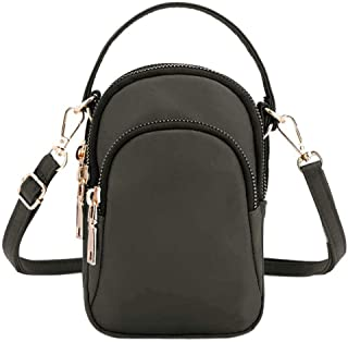 Kwok Women'S Shoulder Messenger Bag Waterproof Lightweight Nylon Bag Mobile Phone Headset Bag Crossbody Bag Wallet Mobile Phone Bag Leisure Bag