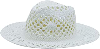 LPKH Straw Hat Collapsible Climbing Travel Cowboy Hat Outdoor  Sun Protection UV Protection Beach Cap Sun Hat hat (Color : White)