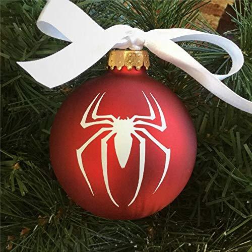 BYRON HOYLE Personalized Spiderman Christmas Ornament Tree Ball Ornaments Shatterproof Xmas Decor Tree Balls for Holiday Wedding