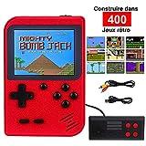 RXYYOS Consoles De Jeux Portable Retro FC, 3 Pouces Non répétitif 400 Jeux Classiques Console de Jeux vidéo rétro Prise en Charge Deux Joueurs Chargement USB pour Enfants Amis et Famille