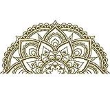 Newin Star DIY Personalidad etiqueta de la pared Decal Mandala vid de la flor etiqueta de la pared removible Etiqueta Imagen de pared Decoración Habitación Sala contexto del sofá 87 * 42cm