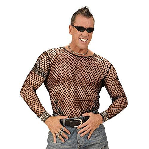 Widmann 00037 jaren 80 punk/rocker netshirt, heren, zwart, XL/XXL