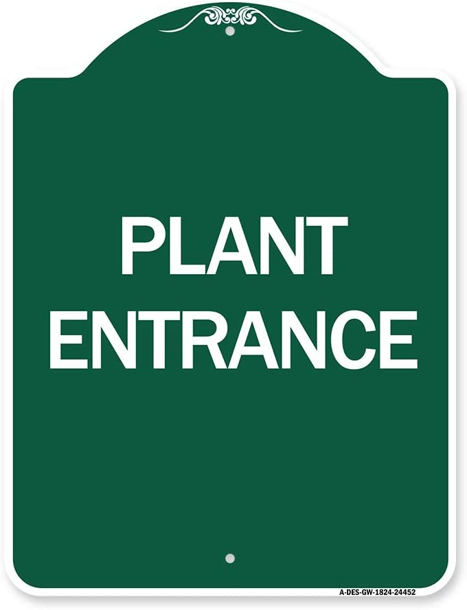 SignMission Designer Series Sign - Green Manufacturer OFFicial Fresno Mall shop Whit Plant Entrance