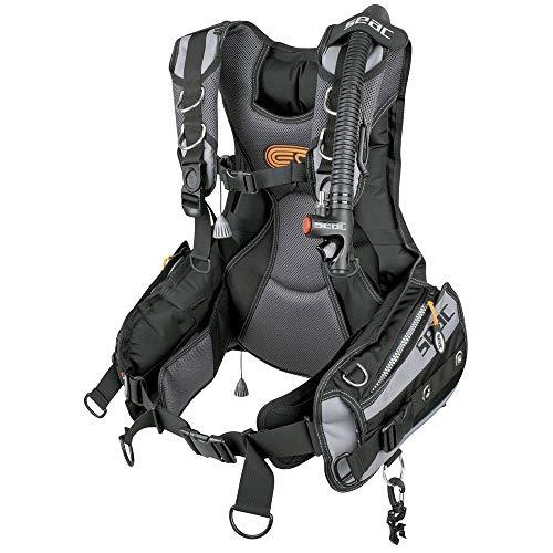 Seac EQ-PRO Taucherjacke, GAV mit optimaler Passform, Frame to Back-System, 5 Größen Unisex Erwachsene, schwarz/grau, M