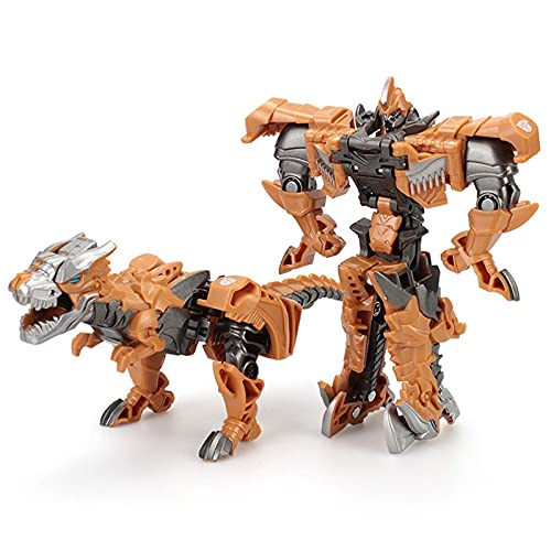 QIXIAOCYB Robot Car, Deformación Juguete King Kong Deformation, Optimus/Hornet Drifting Dinosaur Transforming Coche Dar Kids Mejor Regalo de cumpleaños (Color : S02)