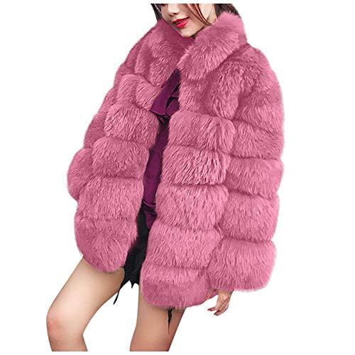 Women Luxury Winter Warm Fluffy Faux Fur Coat Jacket Parka Outwear
