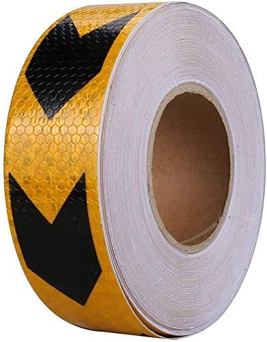 Reflecterende waarschuwing Tape-hoge intensiteit Zelfklevende in het oog springende Lijm Markering Barrier Tape Auto Voorbumper Verkeer Reflecterende Stickers Pijl Waarschuwingsbord 426 148ft/45M Oranje+zwart