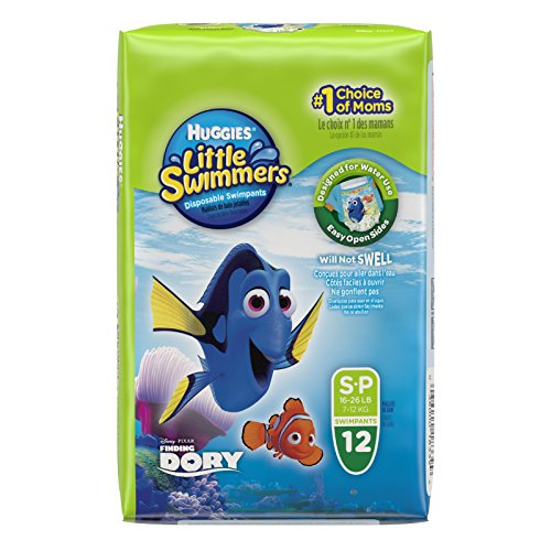 Price comparison product image Huggies Little Swimmers Disposable Swim Diapers,  Small,  12-Count - Pink / Blue
