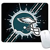 CANDICE NFL Mouse Mat/Square Gaming Mouse Pad 11.8x9.8x0.1Inch | Creative Custom Non-Slip Mouse Mat| Improved Precision and Speed | Rubber Base for Stable Grip(Philadelphia Eagles)