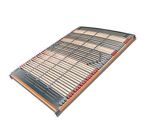 FMP Matratzenmanufaktur 7 Zonen Lattenrost Rhodos NV 44 Leisten Triokautschukkappen, 3 Mittelgurte, Querholme 100% BUCHE massiv Lattenroste 140 x 220 cm