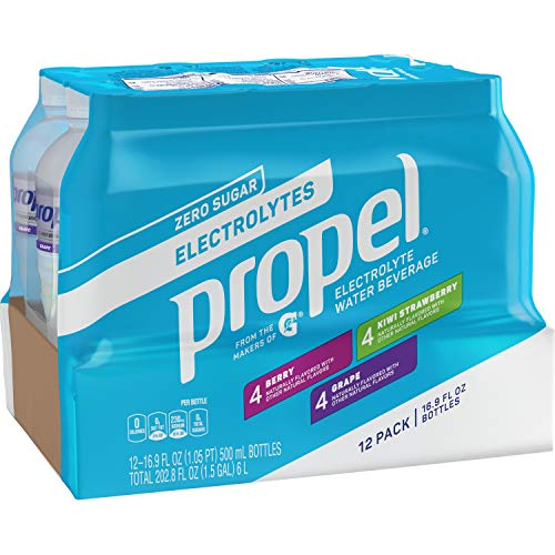 Propel, 3 Flavor Variety Pack, Zero Calorie Sports Drinking Water with Electrolytes and Vitamins C&E, 16.9 Fl Oz (12 Count)