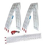 TRUTZHOLM® 2X Auffahrrampe 680 kg Faltbare ALU Rampen klappbar Alu Auffahrrampe Rampe Verladerampen